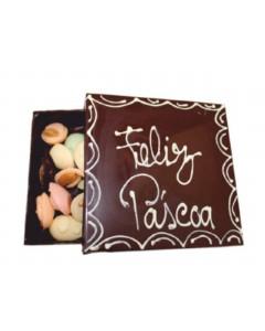 Caixa de Chocolate com Amêndoas Artesanais