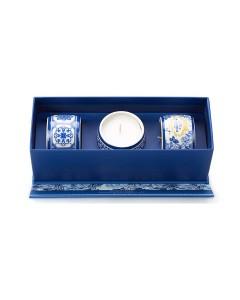 Conjunto de Velas Aromáticas PORTUS CALE Gold & Blue