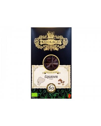 Chocolate Negro 80% Cacau NAU DO CACAU 80gr