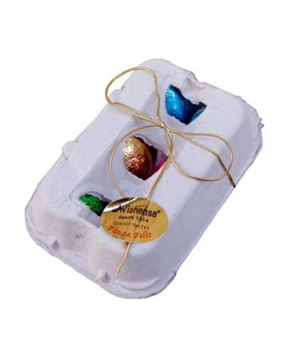Caixa com 6 Ovos de Chocolate AVIANENSE
