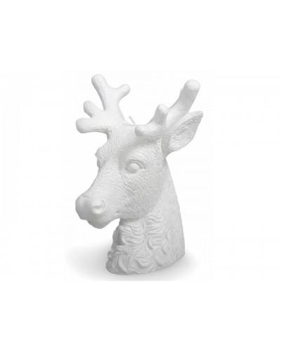 Vela Decorativa MANULENA Cabeça de Veado Branca